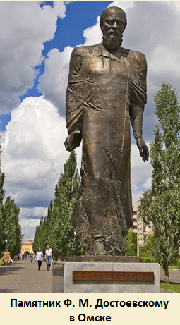 Памятник Ф. М. Достоевскому в Омске