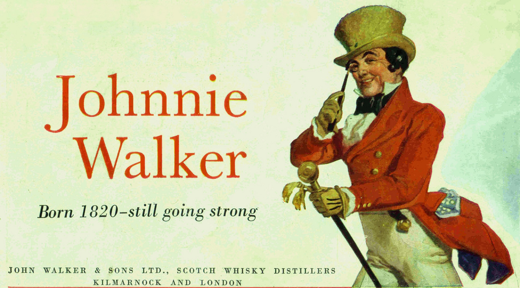 Johnnie Walker - Born in 1820, still going strong