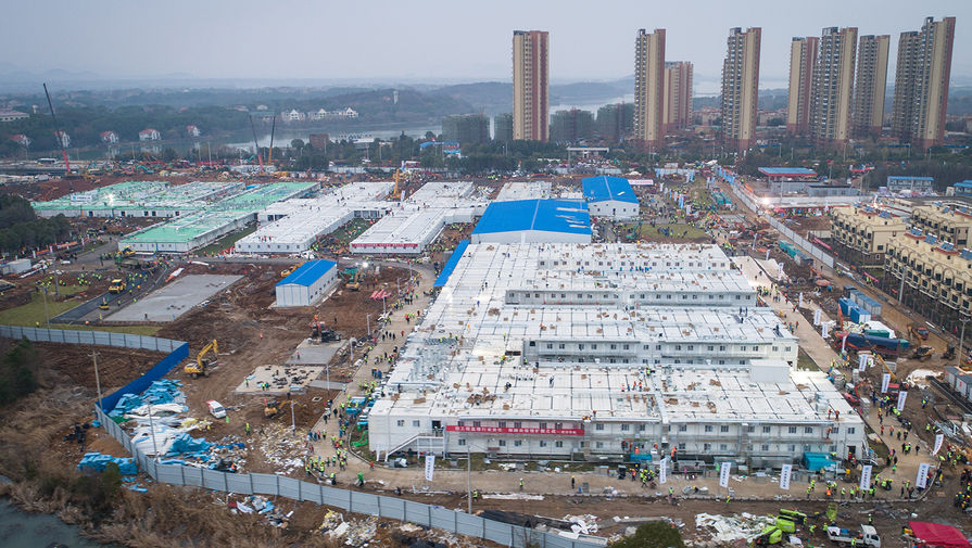 Больницу на 1000 мест в китайском Ухане построили всего за 10 дней